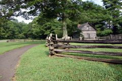 A wooden fence from pioneer days Stock Photography