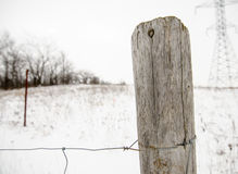 Wooden Fence Post Royalty Free Stock Images