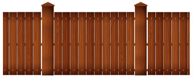 Wooden fence with posts Stock Photos
