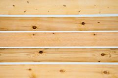 Wooden fence of a private house. stock photo