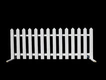 Wooden fence at ranch isolated on black background Royalty Free Stock Photo