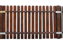 Wooden fence at ranch isolated over white Royalty Free Stock Photography