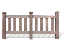 Wooden fence at ranch isolated over white Royalty Free Stock Images