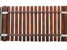 Wooden fence at ranch isolated over white Stock Images
