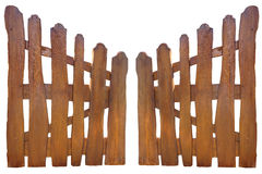 Wooden fence at ranch isolated over white Stock Photography