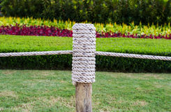 Wooden fence rope Royalty Free Stock Photos