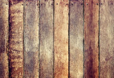 Wooden Fence with Rough Texture Royalty Free Stock Photo