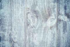 Wooden fence with Rustic plank grey bark wood background, Abstract background - Image. Rustic plank gray bark wood texture photo. Abstract blue toned background royalty free stock photo