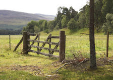 Wooden fence in Scotland Royalty Free Stock Photo