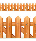 Wooden fence seamless border Royalty Free Stock Image