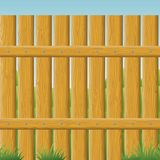 Wooden fence, seamless Stock Images