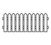 Wooden Fence silhouette isolated vector symbol icon design. Beau Stock Photos