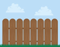 Fence Wooden Sky Stock Image