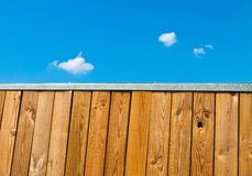 Wooden fence with sky Royalty Free Stock Image