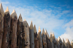 Wooden fence and sky. Royalty Free Stock Image