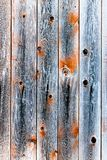 Wooden fence of smoky color Royalty Free Stock Image