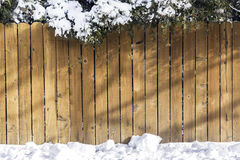 Wooden fence with snow Stock Photography