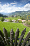 Wooden Fence in South Tyrol Royalty Free Stock Images