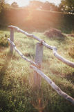 Wooden fence at the sunrise Royalty Free Stock Photos
