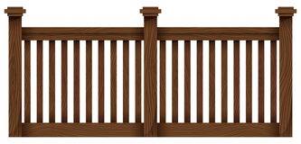 A wooden fence Royalty Free Stock Images