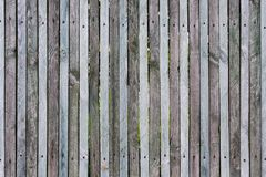 Wooden fence from thin planks, fixed by nails and screws, many knots, cracks, scratches and slits on junction, natural colors, des. Wooden fence from thin planks Royalty Free Stock Photography