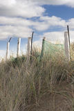 Wooden fence on the top of sand dunes Stock Photography