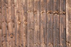 Wooden Fence treated with Creosote Royalty Free Stock Photography