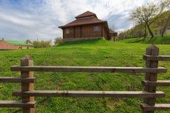 Wooden fence in ukrainian village Royalty Free Stock Photos