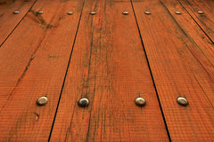 Wooden Fence at Unusual Perspective Royalty Free Stock Image