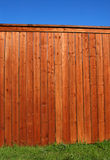 Wooden fence used for advertising Stock Photo