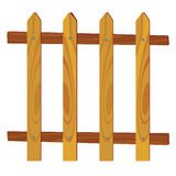 Wooden fence vector illustration Stock Photo