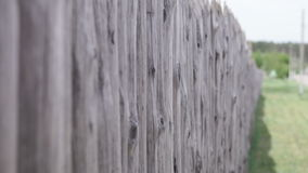Wooden fence in the village Royalty Free Stock Image