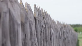 Wooden fence in the village Royalty Free Stock Photography