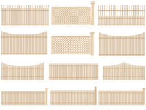 Wooden fence with volume and shadows. Royalty Free Stock Photography