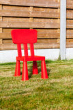 Wooden Fence Whit Chair Stock Image