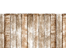 Wooden Fence on white background Royalty Free Stock Photo