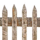 Wooden fence. The wooden fence on white background Stock Photo
