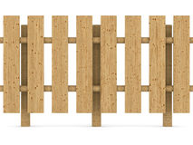 Wooden fence on white background Royalty Free Stock Image