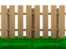 Wooden fence on white background Stock Photo