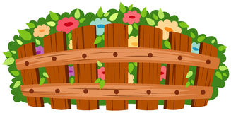 Free Wooden Fence With Flowers Royalty Free Stock Photography - 15306697