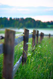 Wooden Fence With Fog Stock Images