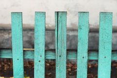 Wooden fence. Wood  turquoise fence with blue shade Royalty Free Stock Images