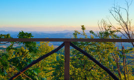 Wooden Fence of Wooden Terrace Stock Photography