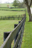 Wooden fences in countryside Stock Photo