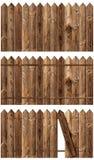 Wooden fences set Stock Photo