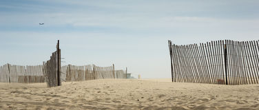 Wooden Fences at Venice Beach Royalty Free Stock Photos