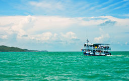 Wooden ferry boat Royalty Free Stock Image