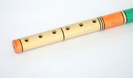Wooden fife wind instrument Royalty Free Stock Image