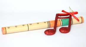 Wooden fife wind instrument Stock Photography