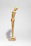 Wooden figure concepts sadness Royalty Free Stock Photography